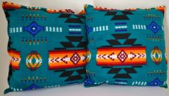 Turquoise Southwest Design Double Sided Pillow Set