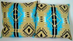 Beige Southwest Design Double Sided Pillow Set