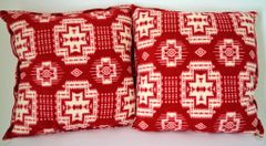 Red Southwest Design Double Sided Pillow Set