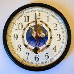 Kiowa Tribe Logo White Clock