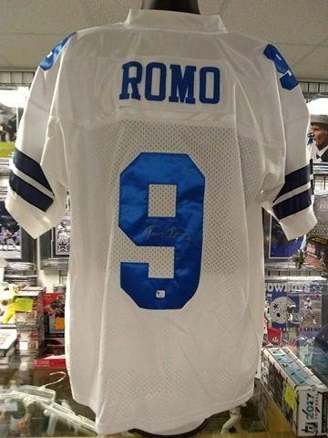 Dallas Cowboys Tony Romo Autographed Custom Jersey Global Authent