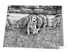 #F32| Around The Farm Greeting Cards | Sheep Lover's Maremma Dog
