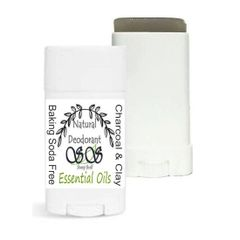 Baking Soda Free Natural Deodorant With Bentonite Clay & Activated Charcoal