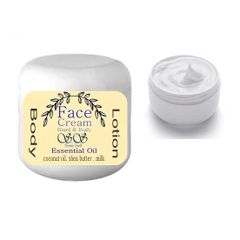 A Peppermint Face Cream & Body Lotion