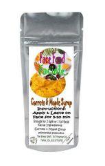 Food Facials | Carrot | Maple Syrup | Pure Retinol
