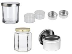 Candle Containers | Tea Lights | Glass | Tin