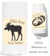 Cabin Fever Theme Labels For Your Natural Deodorant