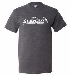 Layout Addictions Logo T-Shirt Charcoal