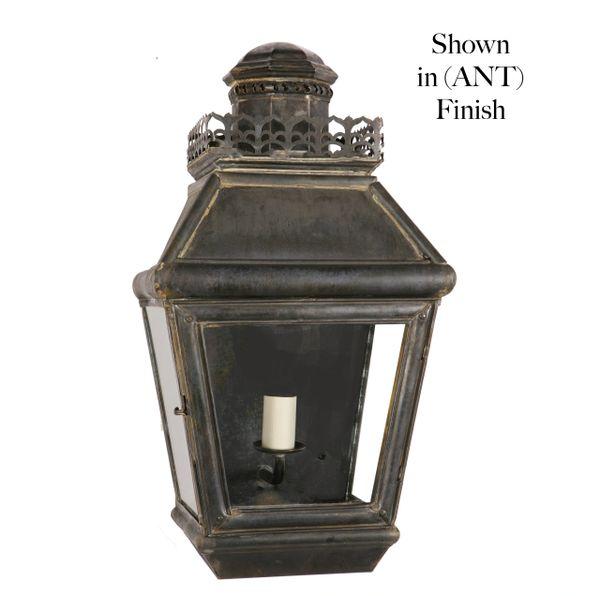 Chateau Pedestal Lantern Nickel: (503) Chateau Passage Lamp (Small)