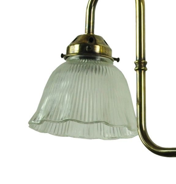 703p3 Swan Neck 3 Light Gasolier With Holothane Glass