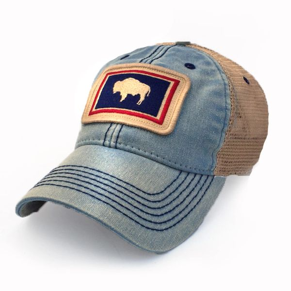 Wyoming Flag Patch Trucker Hat b6fbc2d01
