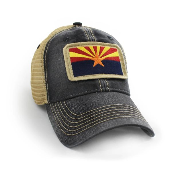 cd88c34c ... greece arizona flag patch trucker hat black 56d03 b83a2
