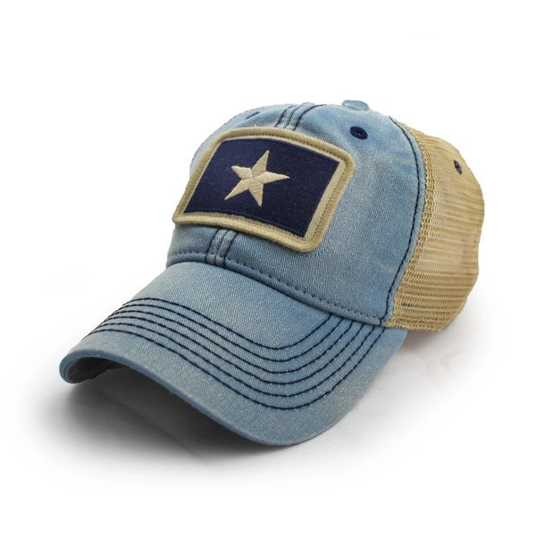 b968dc81bffd83 Bonnie Blue and Republic of West Florida Trucker Hat | S.L. Revival Co -  Americana Clothing/State Flag Hats - Free Ship