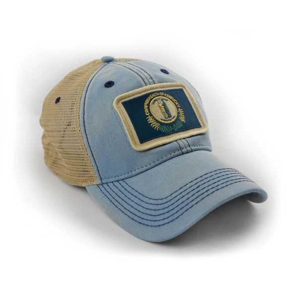 a30bbdb4 Kentucky State Flag Hat, Americana Blue | S.L. Revival Co ...