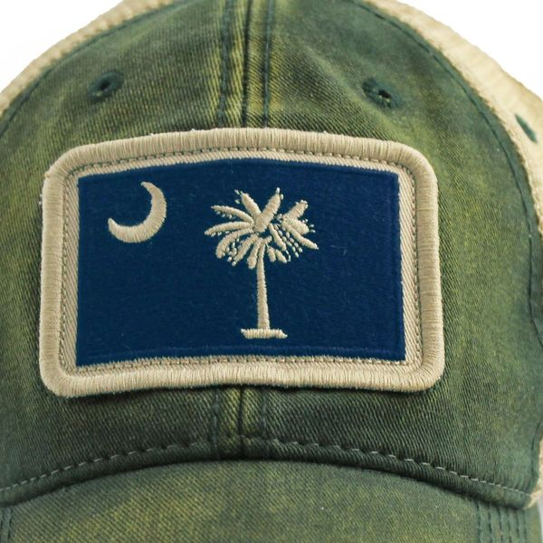 4972b2cf58e7a The most popular South Carolina Flag Patch Trucker Hat Green