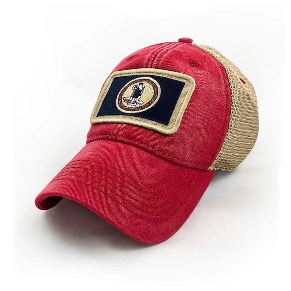 abebd4eb60bba Virginia Flag Patch Trucker Hat