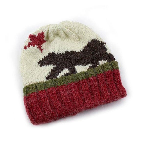 751d5a888a3 California Flag Hand-knit Beanie