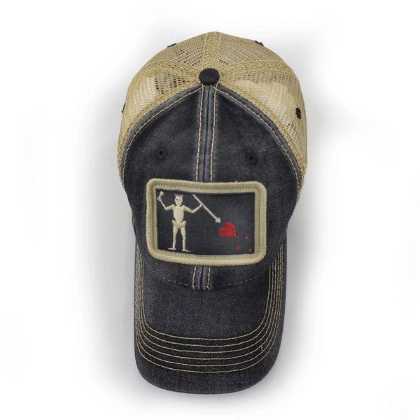 c067eb7b5aa Blackbeard Pirate Flag Trucker Hat