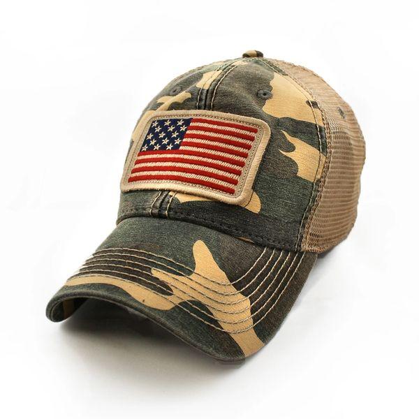 fe747a2f2ad wide varieties ad17a 46936 american flag mesh hat camo ...