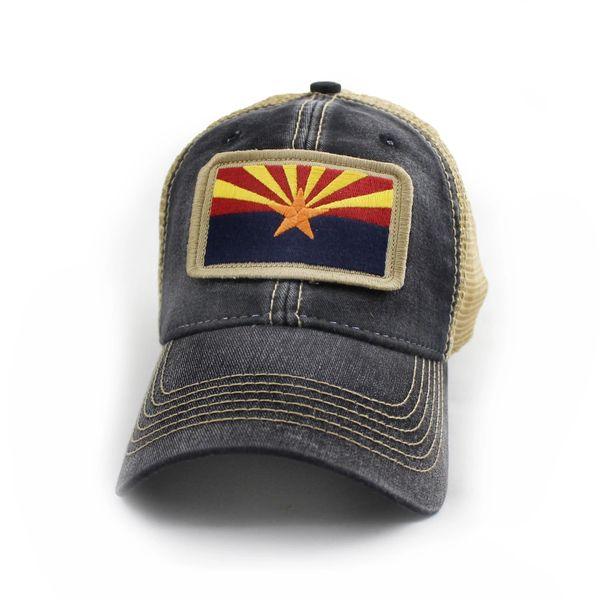 e407336502bff Arizona Flag Patch Trucker Hat
