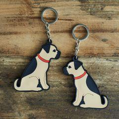 Boarder Terrier Keyring