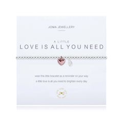 A LITTLE LOVE IS ALL YOU NEED BRACELET Silver Bracelet with Rose Gold Heart by Joma