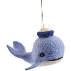 Sailor whale felt decoration