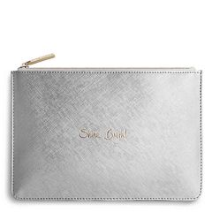 SHINE BRIGHT PERFECT POUCH PALE GREY by Katie Loxton