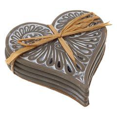 Set of 4 Heart Coasters