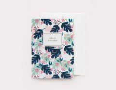 Botanical Happy Birthday By Chloe Hall