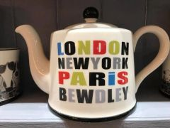 London, New York, Paris, Bewdley Tea-pot by Moorland Pottery