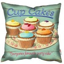 Cup Cake - Martin Wiscombe - Art Print Cushion