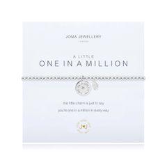 A LITTLE ONE IN A MILLION BRACELET Silver Bracelet with ONE IN A MILLION disc by Joma