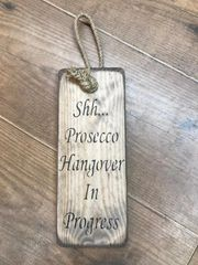 Prosecco Door Hanger Sign