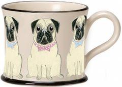 Pug Parade Mug by Moorland Pottery
