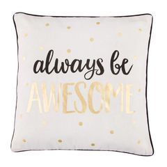 AWESOME METALLIC MONOCHROME CUSHION WITH INNER