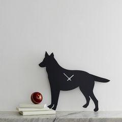 German Shepherd Clock