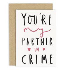 Partner in Crime Card