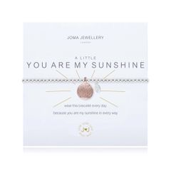 A LITTLE YOU ARE MY SUNSHINE BRACELET Silver Bracelet with Rose Gold Disc by Joma
