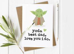 Yoda best dad Card by Mrs Best