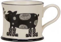 Romantic Swine Mug By Moorland Pottery