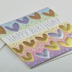 Hearts Birthday Card