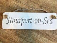 'Stourport-on-Sea' Sign by Austin Sloan