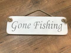 'Gone Fishing' Sign by Austin Sloan