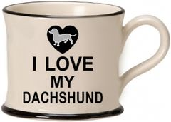 I love my Dashshund Mug by Moorland Pottery