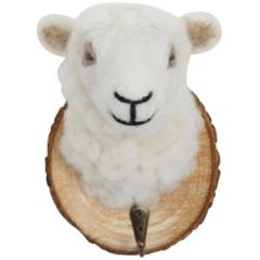 Felt Sheep Trophy Head