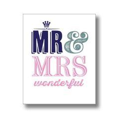 Mr & Mrs Engagement / Wedding Card