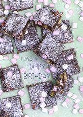 Rocky Road Recipe Birthday Card by Laura Truby