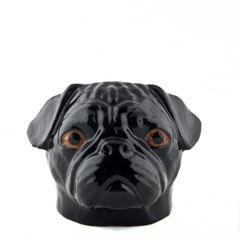 Pug Face Egg Cup in Black by Quail Ceramics