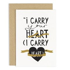 I carry your heart card